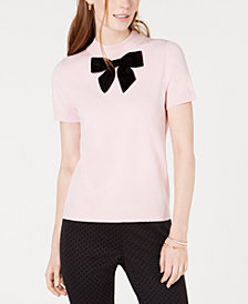 Maison Jules Bow-Neck Sweater, Created for Macy's
