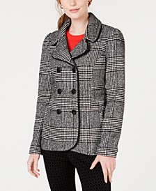 Plaid Peacoat Jacket, Created for Macy's