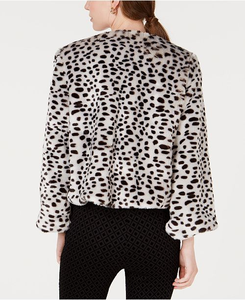 0cdbc7d2b5bf Maison Jules Leopard-Print Faux-Fur Jacket, Created for Macy's ...