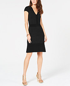 MICHAEL Michael Kors Ottoman-Ribbed Dress