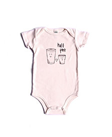 BonBonBaby Apparel Organic Cotton Half Pint One-Piece for Baby Boys or Girls
