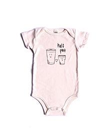 BonBonBaby Apparel Organic Cotton Half Pint One-Piece for Baby Boys or Girls