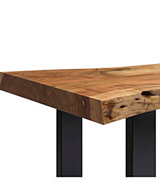 "Alpine Natural Live Edge Wood 48"" Bench"