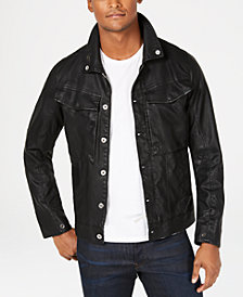 G-Star RAW Mens Vodan Pleather Jacket, Created for Macy's