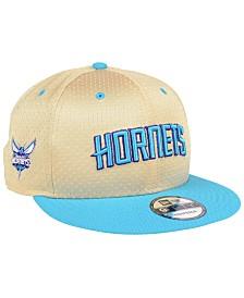 New Era Charlotte Hornets Champagne 9FIFTY Snapback Cap