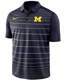 Nike Men's Michigan Wolverines Striped Polo