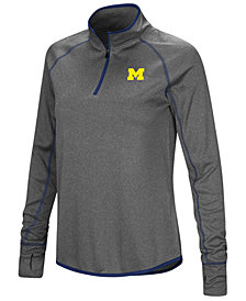 Colosseum Women's Michigan Wolverines Shark Quarter-Zip Pullover