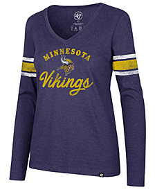 '47 Brand Women's Minnesota Vikings Spirit Script Long Sleeve T-Shirt