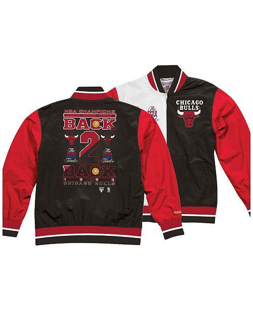 Mitchell & Ness Men's Chicago Bulls History Warm Up Jacket