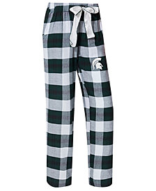 Concepts Sport Women's Michigan State Spartans Homestretch Flannel Pajama Pants