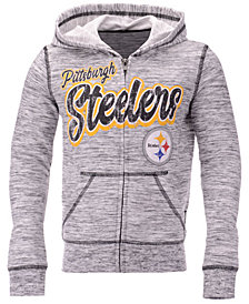 5th & Ocean Pittsburgh Steelers Space Dye Hoodie, Girls (4-16)