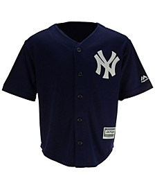 New York Yankees Blank Replica Cool Base Jersey, Little Boys (4-7)