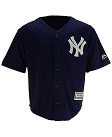 Majestic New York Yankees Blank Replica Cool Base Jersey, Little Boys (4-7)