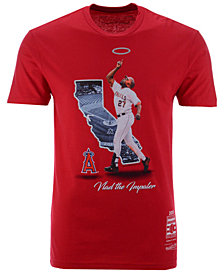 Mitchell & Ness Men's Vladimir Guerrero Los Angeles Angels Hall Of Fame Signature T-Shirt