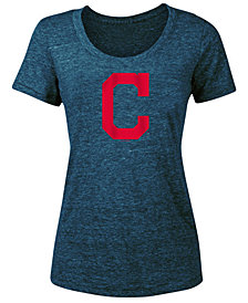 5th & Ocean Women's Cleveland Indians Tri-Blend Crew T-Shirt