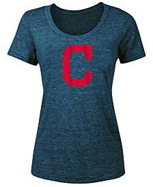 5th & Ocean Women's Cleveland Indians Tri-Blend Crew T-Shirt