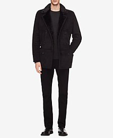 Calvin Klein Men's 3/4-Length Shearling Coat