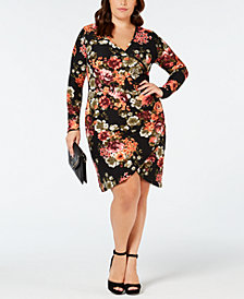 Planet Gold Plus Size Floral Wrap Dress