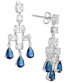 Giani Bernini Cubic Zirconia Chandelier Earrings in Sterling Silver, Created for Macy's