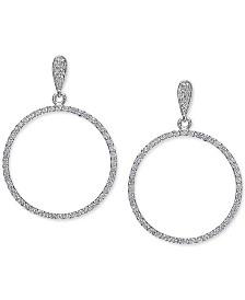 Giani Bernini Cubic Zirconia Circle Drop Earrings Set in Sterling Silver, Created for Macy's