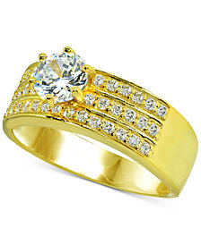 Giani Bernini Cubic Zironia Ring in 18k Gold-Plated Sterling Silver, Created for Macy's