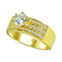 Giani Bernini Cubic Zironia Ring in 18k Gold-Plated Sterling Silver