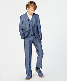 Calvin Klein Big Boys Plain Weave Suit