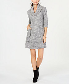Robbie Bee Petite Cowl-Neck Sweater Dress