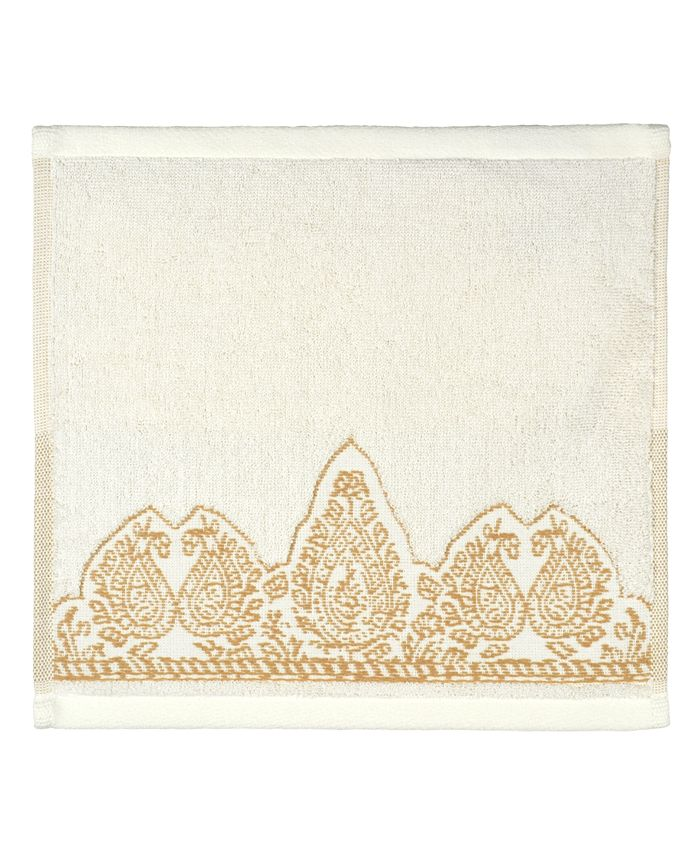 John Robshaw - Nadir Wash Cloth Pearl White/Gold