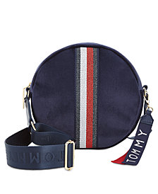 Tommy Hilfiger Isa Velvet Metallic Flag Circle Bag