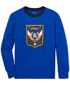 Polo Ralph Lauren Big Boys Downhill Skier Graphic Long-Sleeve Cotton T-Shirt