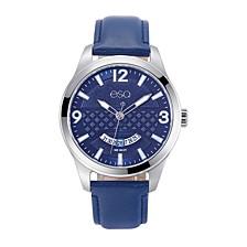 Men's Stainless Steel Watch, Blue Dial, Date Window