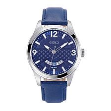 Men's ESQ083 Stainless Steel Watch, Blue Dial, Date Window