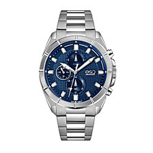 Men's ESQ0130 Stainless Steel Chronograph Bracelet Watch with Blue Dial