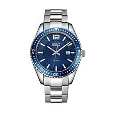 Men's ESQ0160 Stainless Steel Bracelet Watch with Date Window, Blue Dial