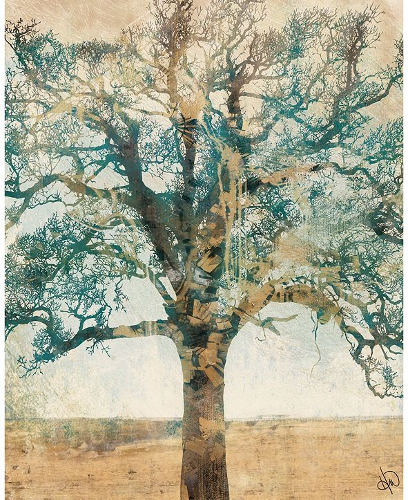 "Creative Gallery Neutral Radiant Tree 20"" X 24"" Acrylic Wall Art Print"