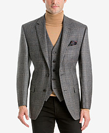 Lauren Ralph Lauren Men's Classic-Fit Gray Plaid Wool Matching Jacket and Vest