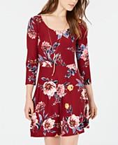 Planet Gold Juniors  Floral-Print Fit   Flare Dress daf771af4