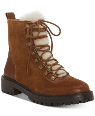 Image of Lucky Brand Ilianna Lace-Up Faux Fur Hiker Boots a643d5d2d97