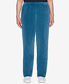 Alfred Dunner Petite Comfortable Situations Velour Jogger Pants