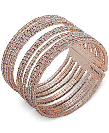 Anne Klein Pavé Multi-Row Cuff Bracelet