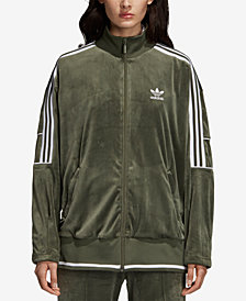 adidas Originals Velvet Three-Stripe Track Jacket