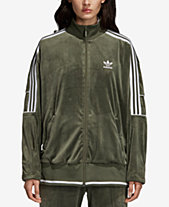 d6272f9f4093 adidas Originals Velvet Three-Stripe Track Jacket