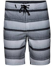 Hurley Men's Baja Striped Board Shorts