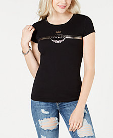 GUESS Crew-Neck Logo-Graphic T-Shirt