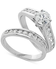 Lab Grown Diamond Channel-Set Bridal Set (2 ct. t.w.) in 14k White Gold