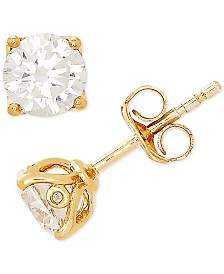 Lab Grown Diamond Stud Earrings (1 ct. t.w.) in 14k Gold or White Gold