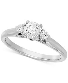 Lab Grown Diamond Engagement Ring (5/8 ct. t.w.) in 14k White Gold