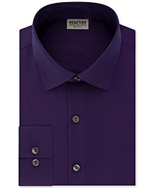 Kenneth Cole Reaction Men's Techni-Cole Slim-Fit Performance Stretch Wrinkle-Free Flex-Collar Dress Shirt