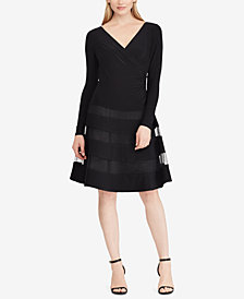 Lauren Ralph Lauren Tulle-Trim Jersey Dress